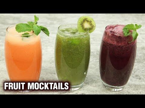 3 Refreshing Summer Mocktail Drink Recipes - 3 Types Of Fruit Mocktails - Summer Special - Varun