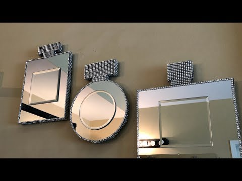 Dollar Tree DIY - 💕 At Home Inspired || Perfume Bottle Wall Mirrors 💕
