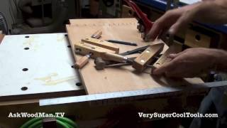 03 Four Drawer Bedside Table • Dovetail Marking