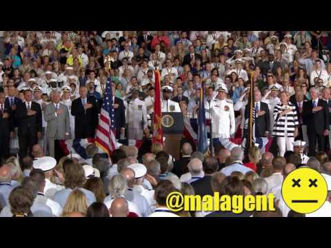 National Anthem USS Gerald R Ford Commissioning