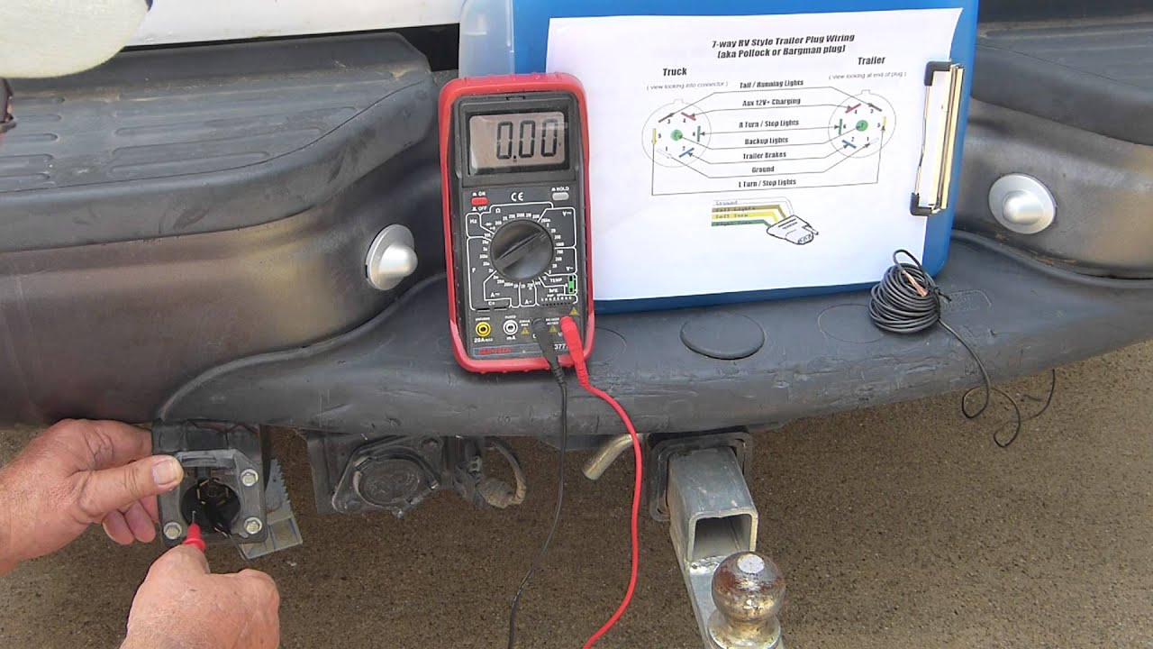 Six Pin Trailer Wiring Diagram 120v Photocell Boat Youtube