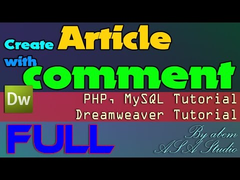 Create Article with Comment - Dreamweaver Tutorial - FULL