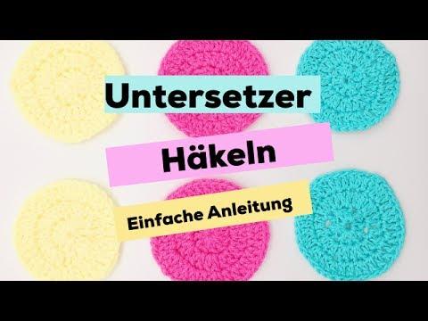Untersetzer Häkeln Häkelanleitung Für Anfänger Youtube