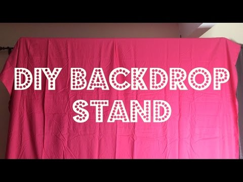 DIY Project | Backdrop stand under $15