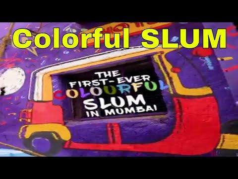Colourful Slum in Mumbai
