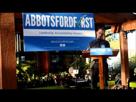 Marty Snider at the Kick Off Event for Abbotsford First