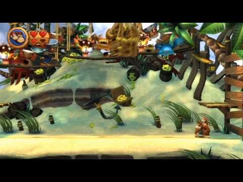 Donkey Kong Country Returns - World 2 Boss: Pinchin' Pirates [HD]