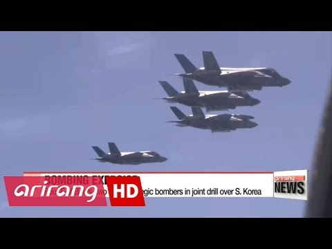 Four F-35B jets and two B-1B strategic bombers conduct joint exercise in S. Korea
