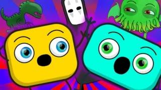 Ужасы и Монстры Для Детей!  Мультфильмы Сборник #12 ❒ Кубики Мультфильм Онлайн