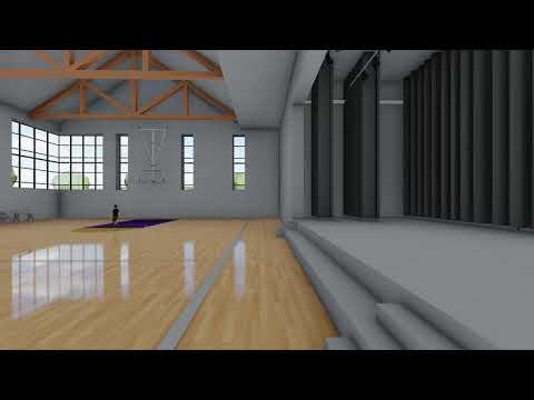 KCBA / UDSD - Aronimink Elementary School – Gymnasium Interior Animation