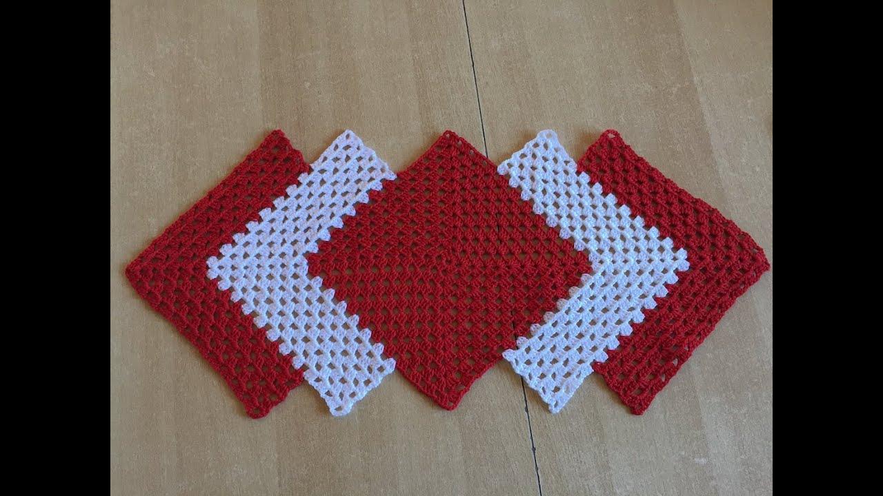 Tuto chemin de table au crochet youtube - Set de table crochet ...