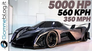 Devel Sixteen 5007 HP - WORLD FASTEST CAR ? Top Speed 350 MPH