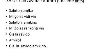 Saluton Amiko 7.10.20