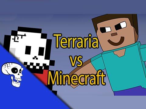 Terraria vs Minecraft Rap Battle LYRIC VIDEO by JT Music and VGRB