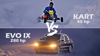 EVO 9 vs Kart