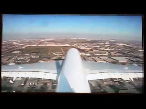 Tail Camera landing in Toronto Pearson! (Emirates A380-800)