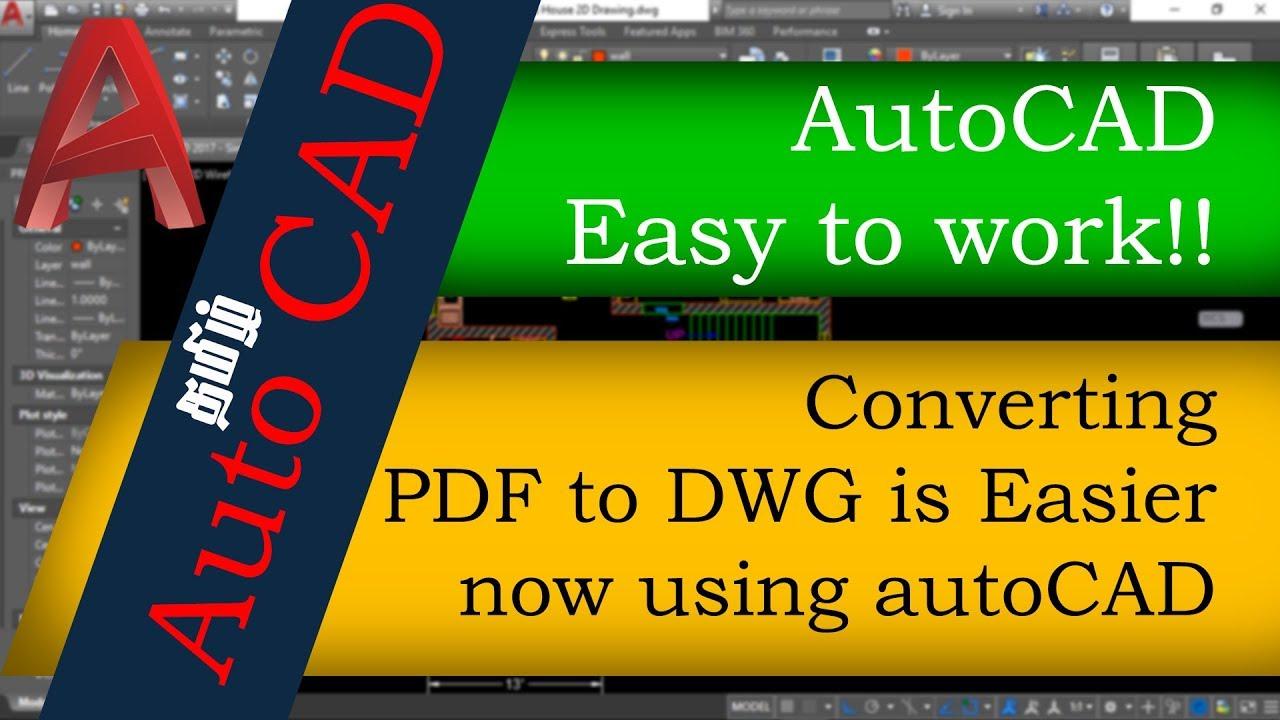 convertir pdf a dwg autocad 2017 online