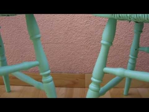 Restauracion de sillas windsor youtube for Almohadones para sillas windsor