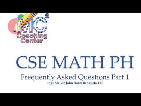 CIVIL SERVICE EXAM REVIEW MATH PH FAQs PART 1