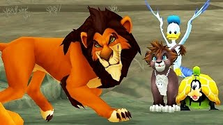 Kingdom Hearts 2: Scar Boss Fight (PS3 1080p)