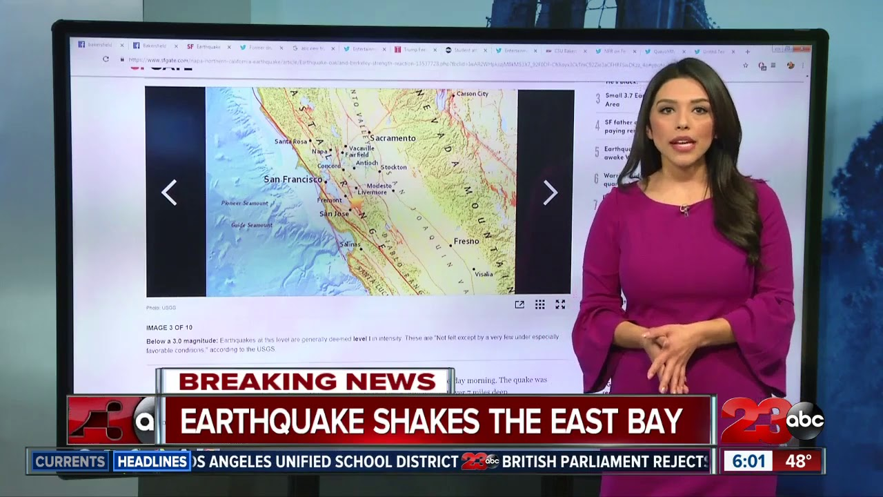 3.4 Magnitude Earthquake Shakes the East Bay