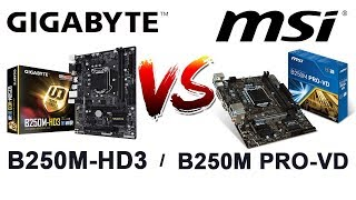 Compare Gigabyte B250M-HD3 vs MSI B250 PRO-VD + price |Bengali|