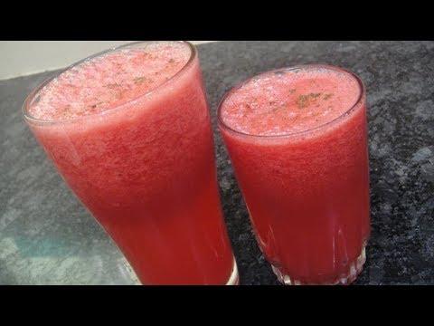 Water Melon Ginger Mint Lemon Juice In Tamil | Refreshing Water Melon Juice In Tamil | Gowri Samayal