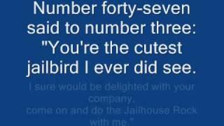 Elvis Presley JailHouse Rock Lyrics
