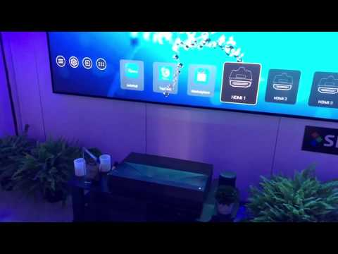 Optoma P1 Smart 4K UHD Laser Projector at InfoComm 2019