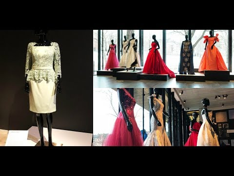 An Oscar dress and several Nobel dresses on exhibition in Stockholm