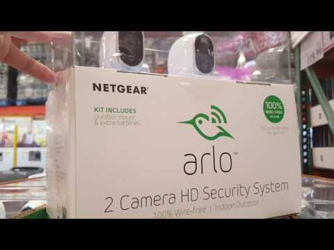 Costco - Arlo - Netgear 2 Camera HD Security System! - YouTube