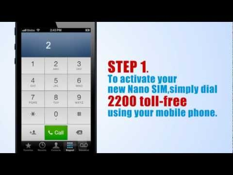 How to Activate Your Globe iPhone5 Nano Sim Card - YouTube