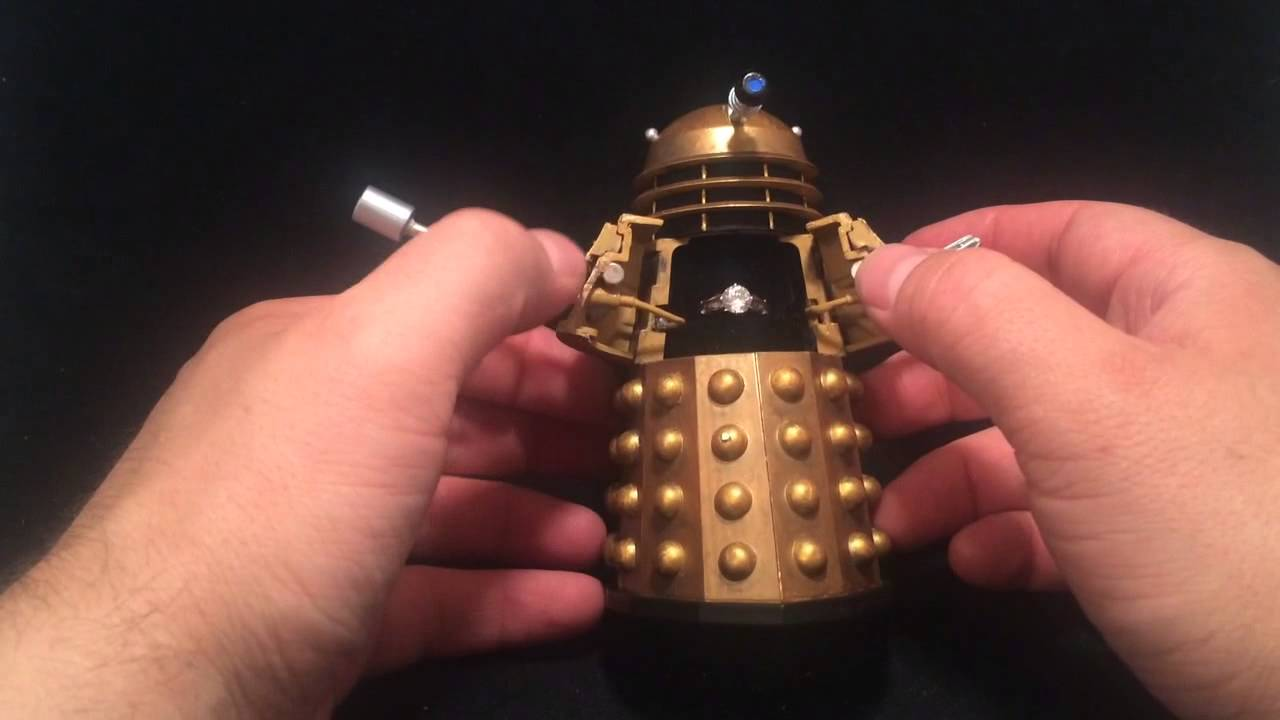 Doctor Who Dalek Custom Engagement Ring Box With Sound