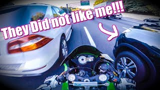 homepage tile video photo for CAR DOESNT WANT BIKER TO PASS... UNCUT