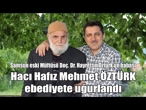 Sütpınar'da Hacı Hafız Mehmet Öztürk'ün cenazesi