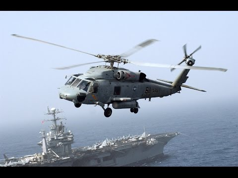 SH-60 Seahawk Resupplies Aircraft Carrier