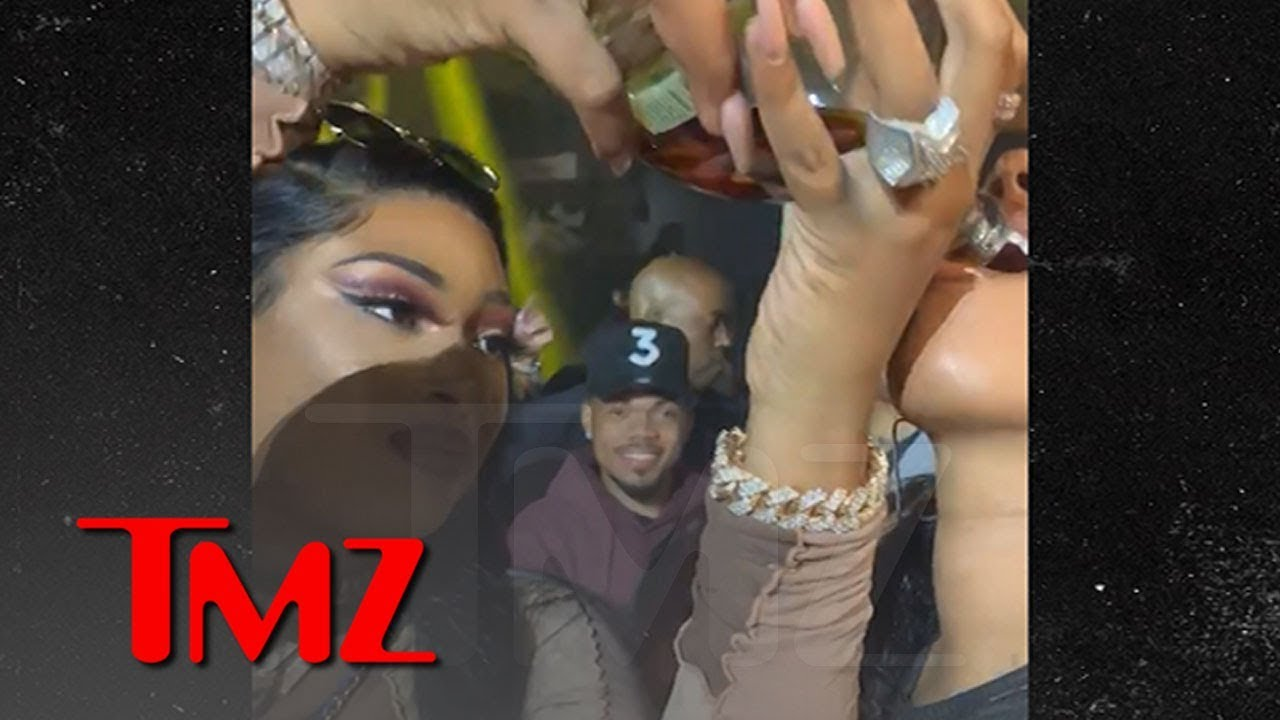 Chance the Rapper & His Wife Take Shots with Megan Thee Stallion