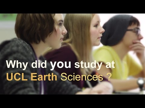 Why did you study at UCL Earth Sciences?