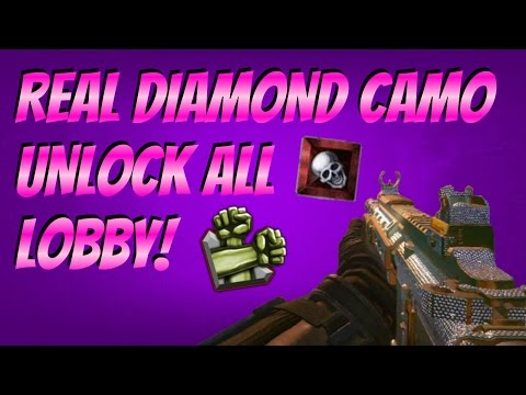 Black Ops 2 Camo Lobby! (UNLOCK ALL DIAMOND CAMO FREE!) *REAL! PLUS FREE RANK UP LOBBY!