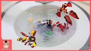 헬로카봇 장난감 소용돌이 회오리치기 물놀이 ♡ 로봇장난감 친구들과 함께 놀이 장난감놀이 Carbot Toys Fun Play for Kids | 말이야와아이들 MariAndKids