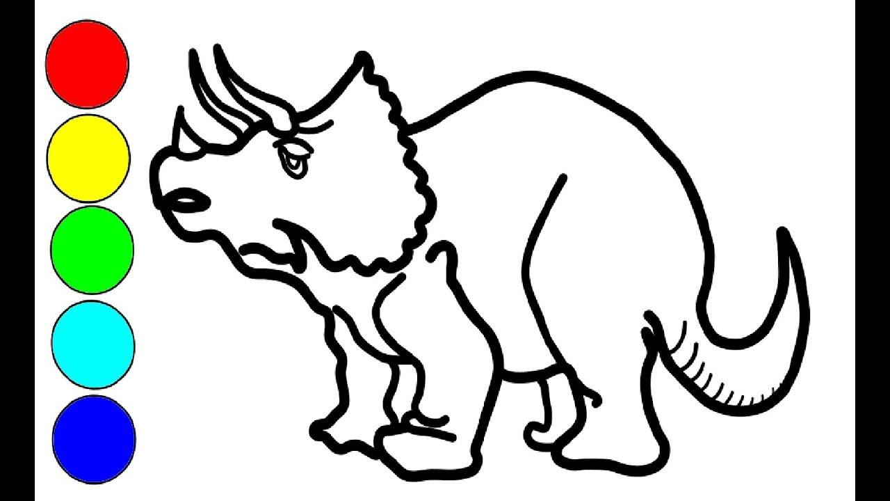 Wie Man Zeichnet Triceratops Dinosaurier Fur Kinder Zeichnen Dinosaurier Zeichnen Und Malen Youtube