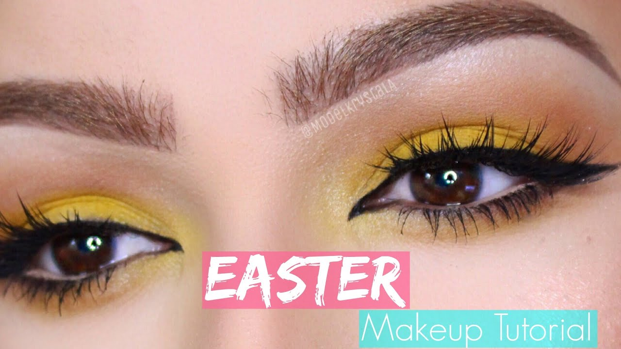Colorful spring/easter makeup tutorial youtube.