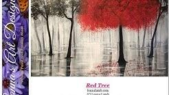 Acrylic Painting Tutorial Red Tree