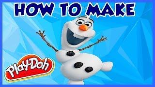 Play Doh FROZEN - How to Make PlayDough Olaf Frozen