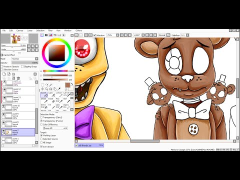 [SpeedPaint] Still friends (Five Nights at Freddys 4)