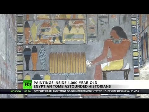 4,000yo paintings unearthed in Egypt