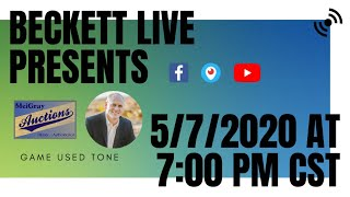 Beckett Live Presents: Game Used Tone
