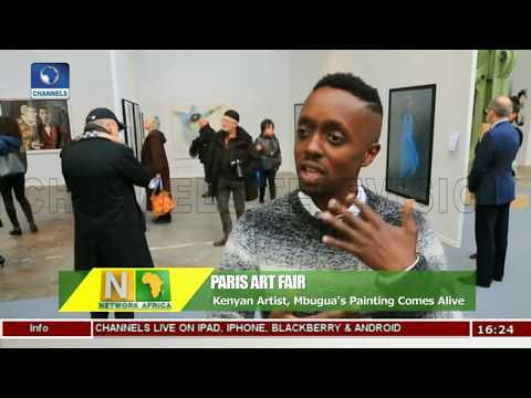 C.A.R IDP Camps Get Stations As Art Enthusiasts Grace Paris Art Fair  Network Africa 