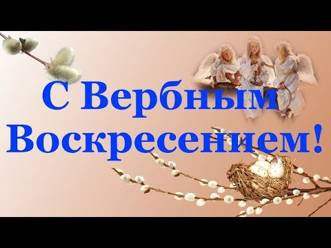 Красивое Поздравление с Вербным Воскресеньем. С Вербным Воскресеньем - Смотреть видео без ограничений