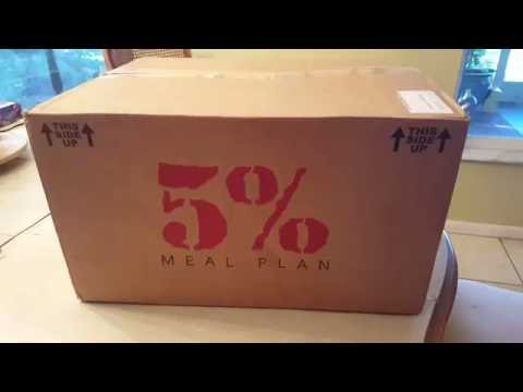 Rich Piana's - 5% Nutrition keto diet meal plan unboxing